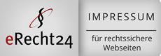 Impressum erstellt zusammen mit eRecht24.